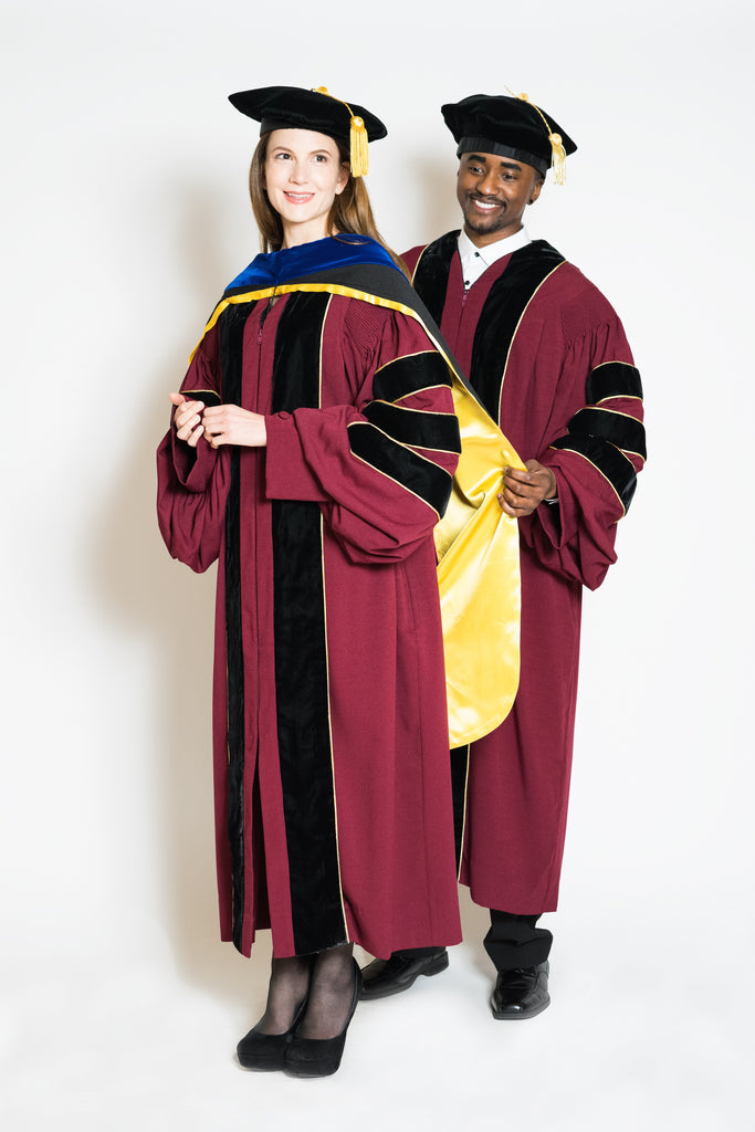 University Of Minnesota Phd Gown Hood Cap Regalia Set