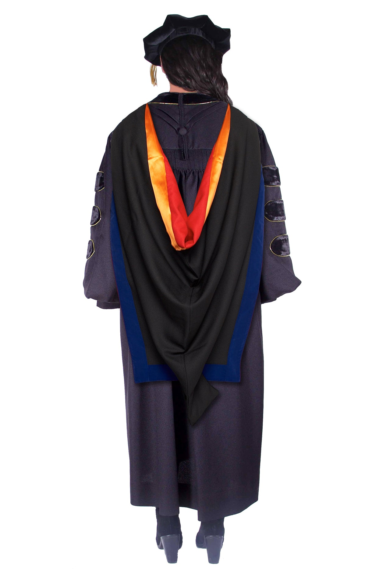 Stanford Complete Doctoral Regalia Rental Set - Gown, Hood, and Cap