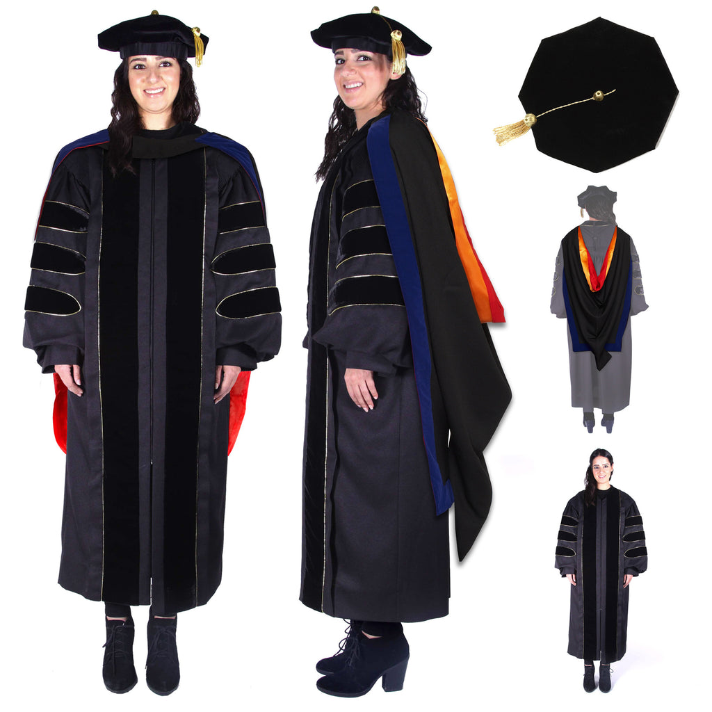 Stanford Phd Gown Hood And Cap Regalia Rental Set