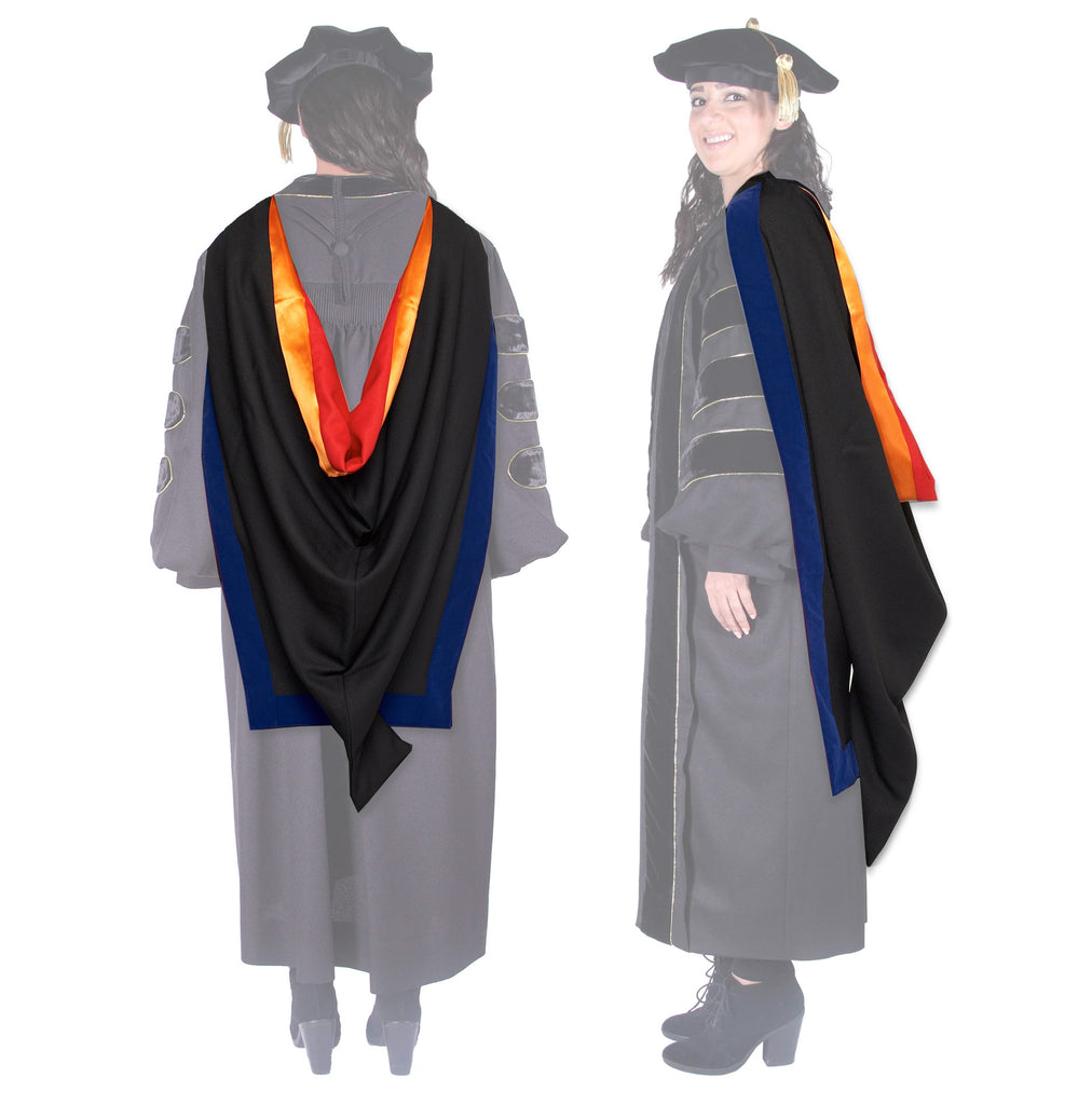 Stanford PhD Gown, Hood, and Cap Regalia Rental Set