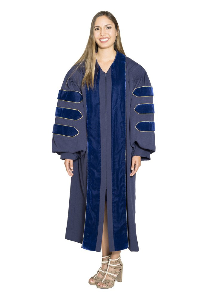 University of California Doctoral Gown on Clearance. Worn at Berkeley, UCLA, UCSD, UCSB, Davis, Irvine, Santa Cruz, Riverside