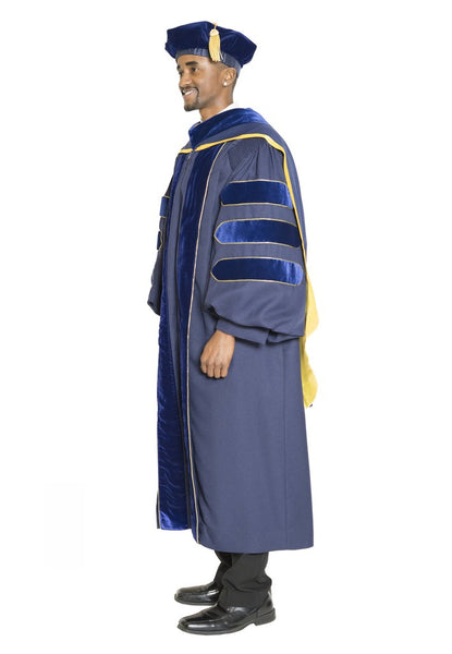University of California Doctoral Gown, Hood, & Tam Regalia Set