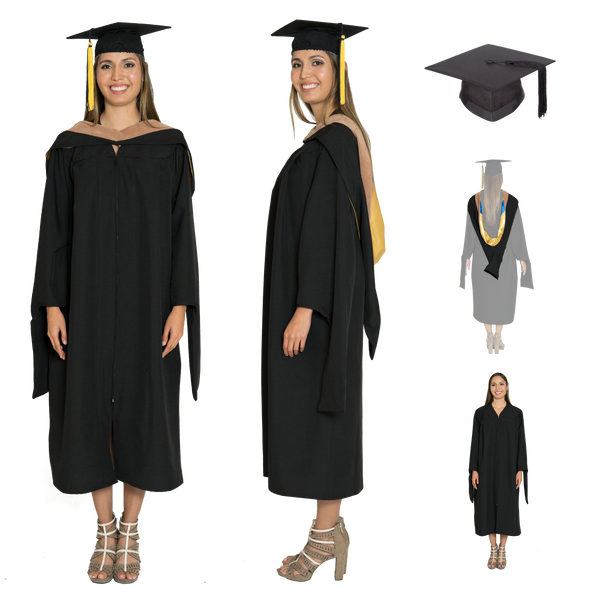 MBA Gown, Hood, & Cap set for UC Berkeley, UCLA, UCSD, UC Irvine, UC Riverside Graduation