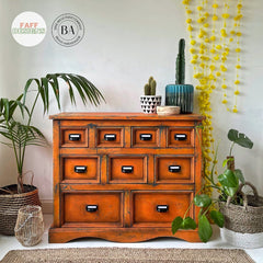 Dixie Belle Florida Orange Apothecary Chest Home Decor by FAFF Designs