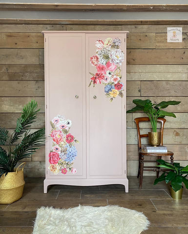 floral furniture transfers