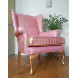 Posh Chalk Pigment Pink Painted Chair