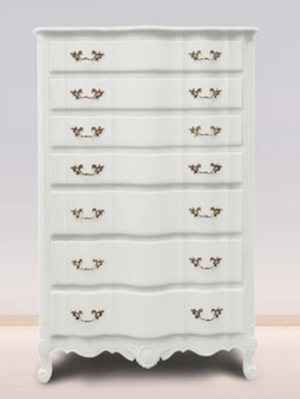 bright white vintage chest of drawers