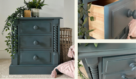 Fusion Mineral Paint Homestead Blue Bedside Drawers