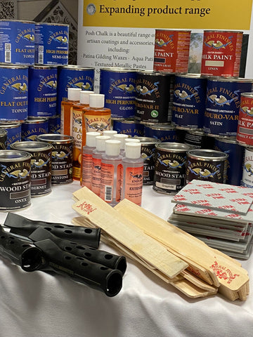 General Finishes Products at the conference