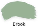 Brook, pastel green, duck egg green. fusion mineral paint, penny and co designer collection, shabby nook, stockist, uk,