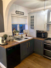 Hand painted kitchen, chalk paint kitchen, Fusion Mineral Paint, soap Stone, soapstone, Sterling, Furniture painter, kitchen painter, Fusion Mineral paint stockist, Dixie Belle Paint, Burton On Trent Kitchen Painter. Shereena Starmer