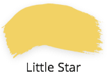 little star, bright yellow, tones for tots collection, fusion mineral paint, shabby nook, uk, stockist