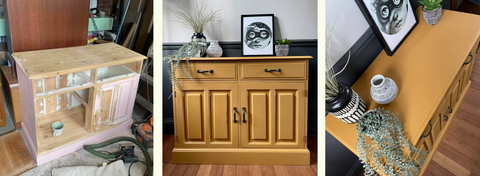 Fusion Mineral Paint Mustard Side Board by The Paint Shed