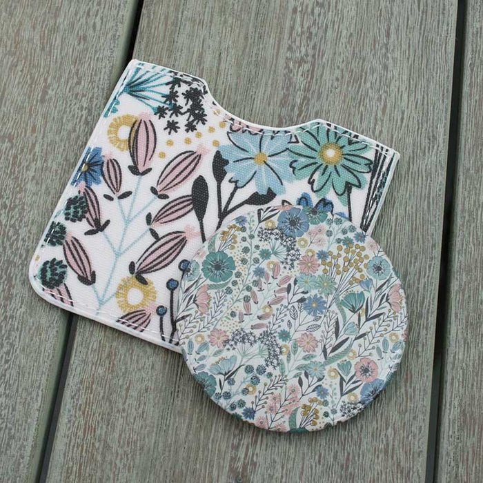 Gisela Graham Meadow Flowers Matt PVC Mirror and Pouch, Gifts, Shabby Nook Shabby Nook