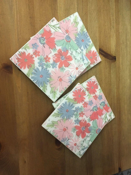Gisela Graham Floral Set Of 4 Coasters, Coasters, Gisela Graham - Shabby Nook