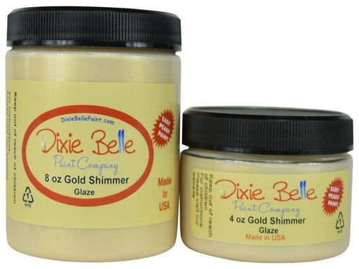 Small Glaze - Gold Shimmer -  Dixie Belle Paint, Dixie Belle Finishes, Shabby Nook dixie belle mineral chalk paint