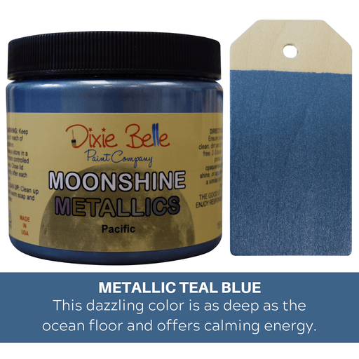 Moonshine Metallic - Paciific - Dixie Belle Paint, Dixie Belle Paint, Shabby Nook dixie belle mineral chalk paint
