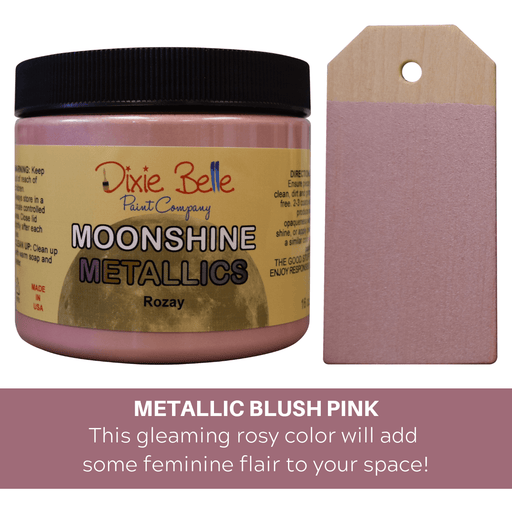 Moonshine Metallic - Rozay - Dixie Belle Paint, Dixie Belle Paint, Shabby Nook dixie belle mineral chalk paint