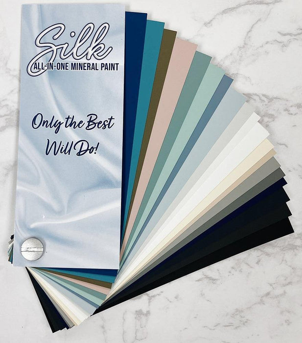 Silk All In One Mineral Paint-  fan deck OR hand painted swatch sticks - Shabby Nook