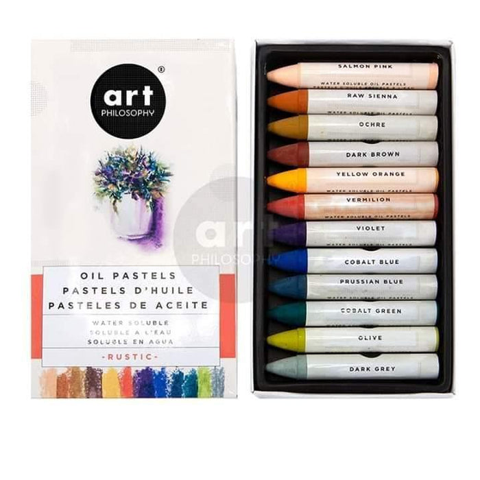 Oil Pastels Water Soluble - Art Philosophy - Prima, Decorative Products, Shabby Nook Re Design with Prima Marketing
