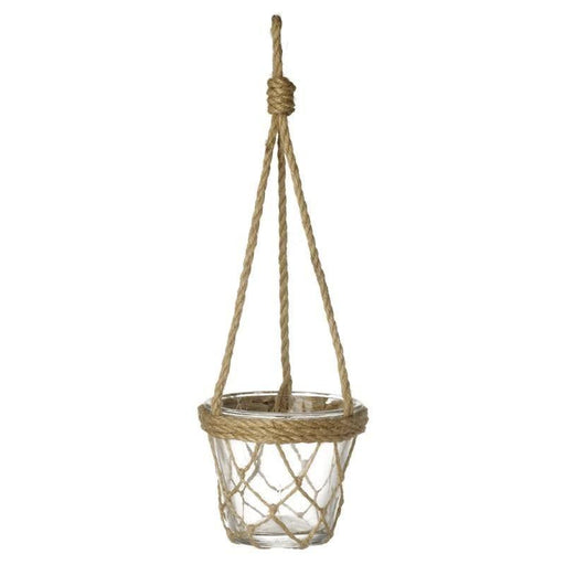 Rope Hanging glass plant pot, Homeware, Shabby Nook heaven sends