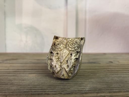Gisela Graham Wooden Carved Owl Drawer handle, knob for furniture at shabby nook, Fusion Mineral Paint Stockist