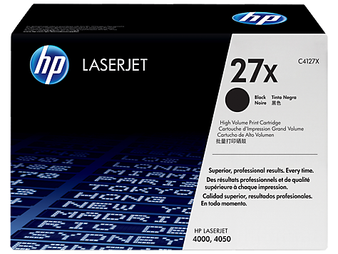 HP C4127X OEM Black Toner Cartridge (HP 27X) - Precision Toner