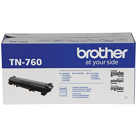 Brother TN-760 TN760 Original Black Toner Cartridge - Precision Toner