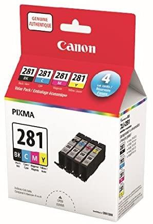Absolute Toner 2091C009 Canon CLI-281BK,C,M,Y Canon Ink Cartridges