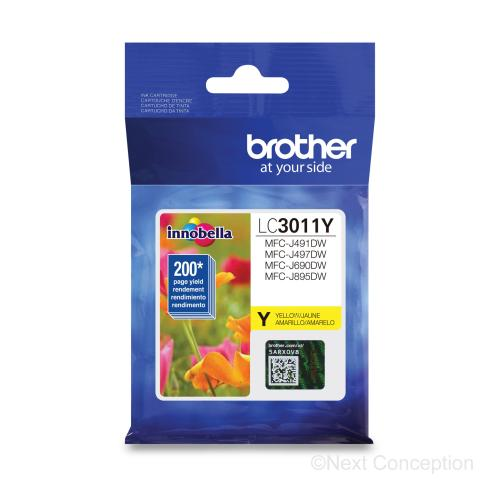 Absolute Toner LC3011YS YELLOW INK FOR MFCJ491DW, MFC690DW 0.2K Brother Ink Cartridges