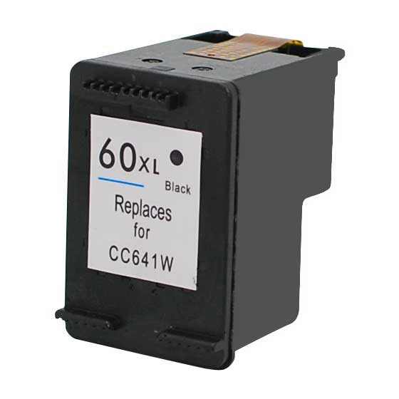 Ink Cartridge Compatible with HP 60XL High Yield Black (CC641WN) - Precision Toner