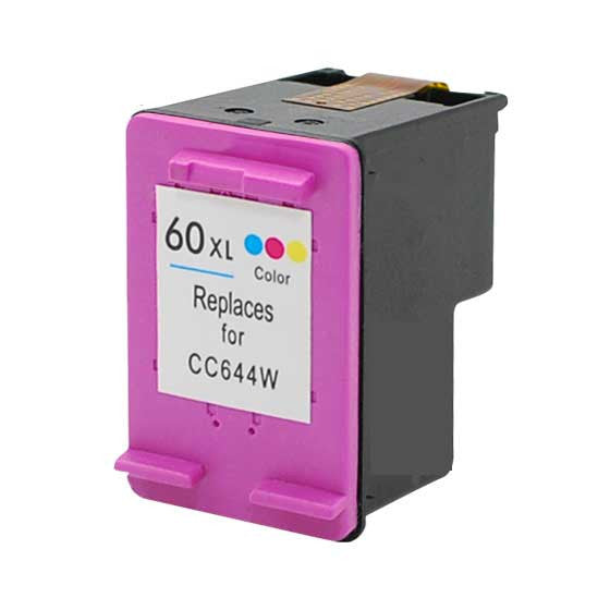 Ink Cartridge Compatible with HP 60XL High Yield Tri-Color (CC644WN) - Precision Toner