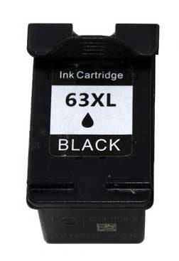 Ink Cartridge Compatible with HP 63XL High Yield Black (F6U64AN) - Precision Toner