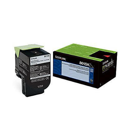 Lexmark 80C1SK0 OEM Black Return Program Toner Cartridge