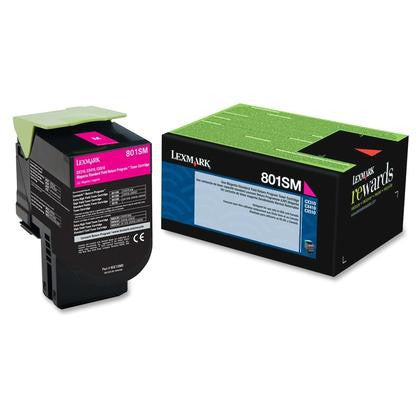 Lexmark 80C1SM0 OEM Magenta Return Program Toner Cartridge