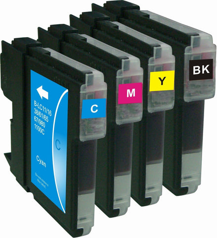 4 Brother LC-61 Compatible Ink Cartridge Combo (Black, Cyan, Magenta, & Yellow) - Precision Toner