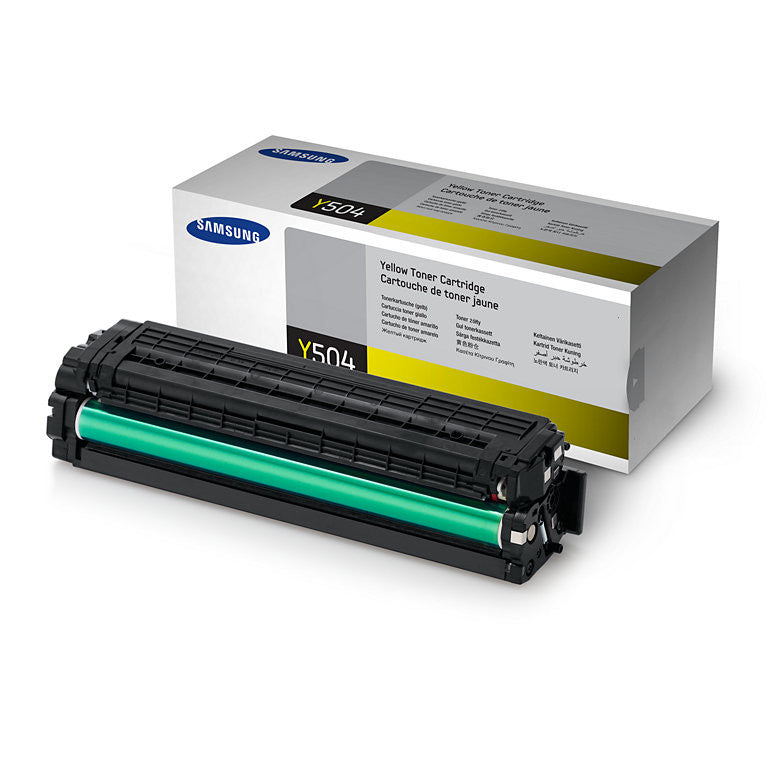Samsung CLT-Y504S OEM Yellow Toner Cartridge - Precision Toner