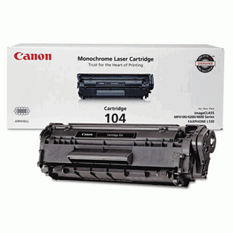 Canon 104 OEM Black Toner Cartridge (0263B001AA)