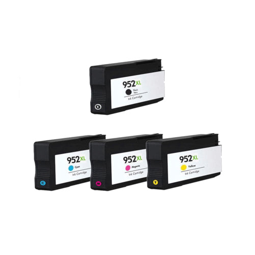4 Ink Cartridge Compatible with HP 952XL High Yield Combo (Black, Cyan, Magenta, Yellow) - Precision Toner