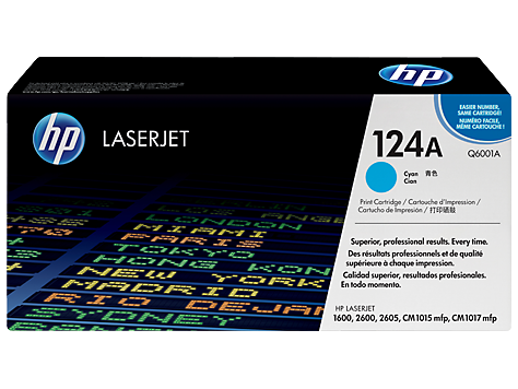 HP Q6001A OEM Cyan Toner Cartridge (HP 124A 2600) - Precision Toner