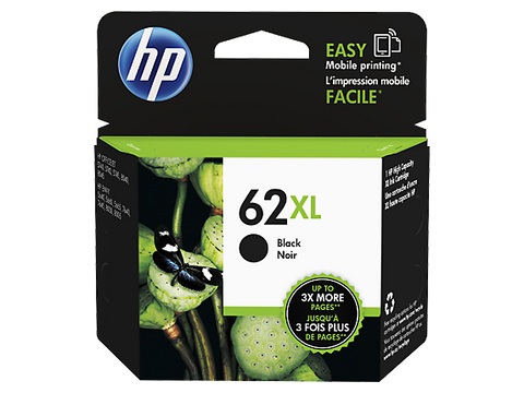 HP 62XL OEM High Yield Black Ink Cartridge (CH563WN) - Absolute Toner