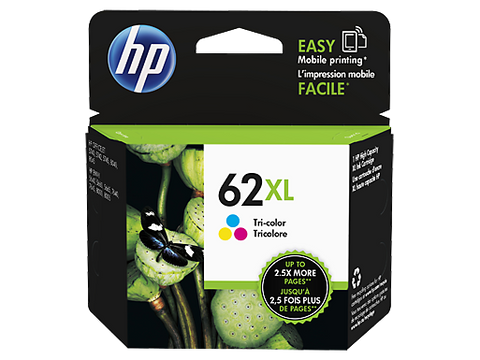 HP 62XL OEM High Yield Tri-Color Ink Cartridge (CH564WN) - Absolute Toner