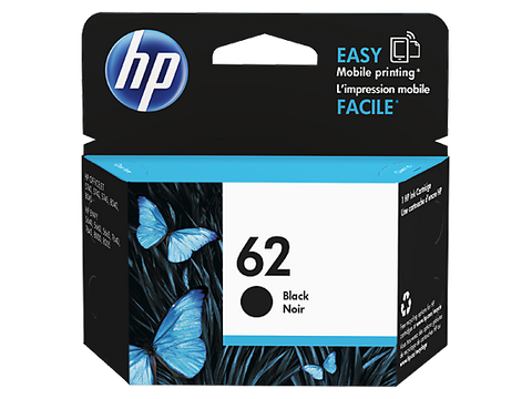 HP 62 OEM Black Ink Cartridge - Absolute Toner
