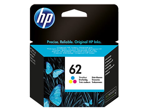 HP 62 OEM Tri-Color Ink Cartridge - Absolute Toner