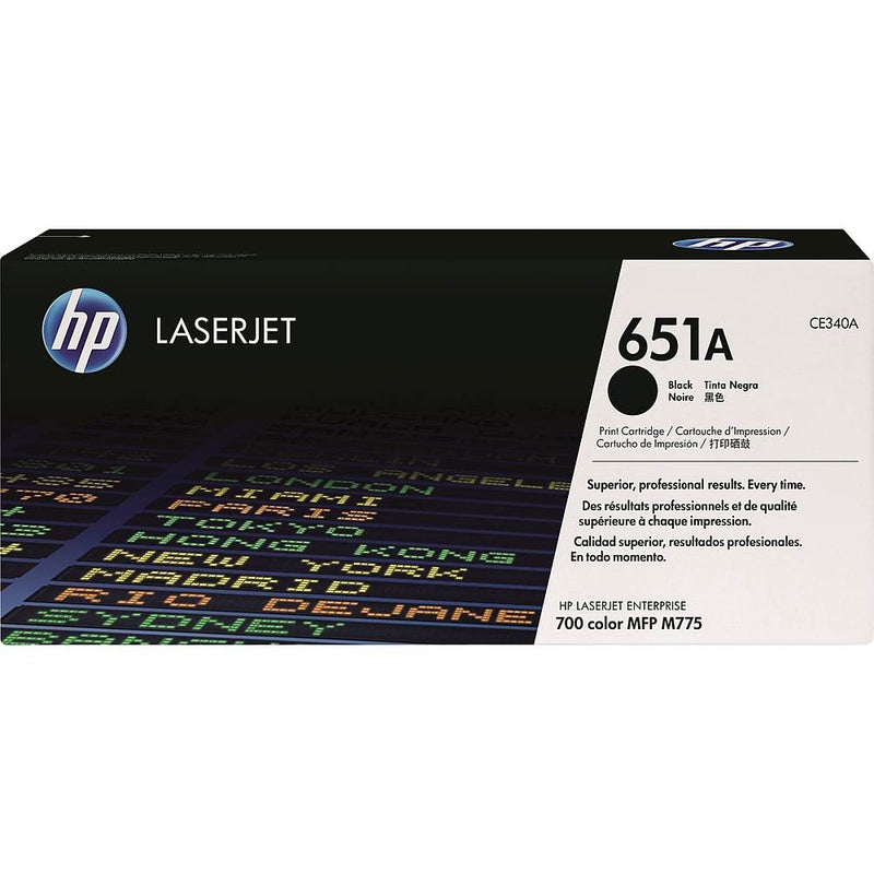 HP 651A (CE340A) Black Original LaserJet Toner Cartridge - Precision Toner