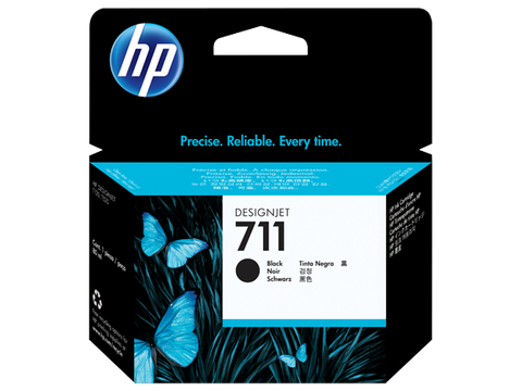 HP 711 OEM Black Ink Cartridge (CZ129A)