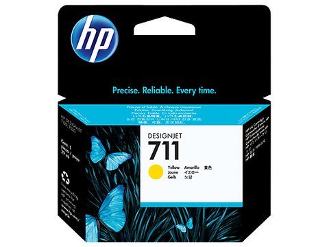 HP 711 OEM Yellow Ink Cartridge (CZ132A)
