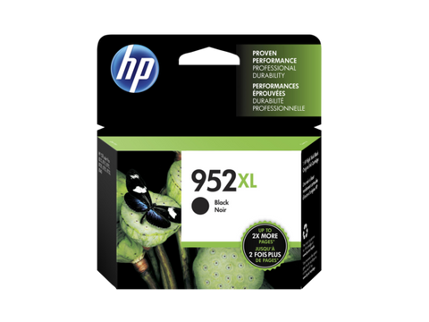 HP 952XL OEM High Yield Black Ink Cartridge (F6U19AN)