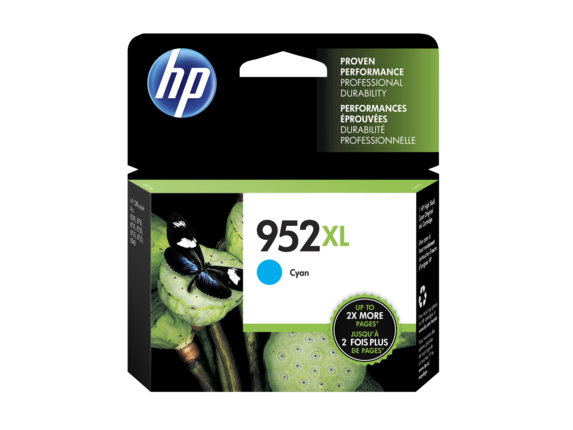 HP 952XL OEM High Yield Cyan Ink Cartridge (L0S61AN) - Precision Toner