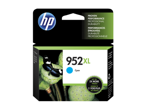 HP 952XL OEM High Yield Cyan Ink Cartridge (L0S61AN)